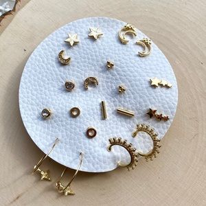 NWT Free People Gold Mix N Match Earring Set